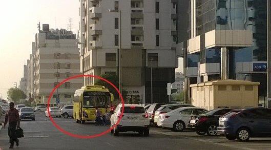 school bus - Unsafe school pickup-1